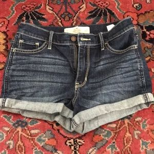 Size 5 Hollister high rise jean shorts